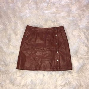 Urban outfitters leather mini skirt